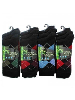 Mens Bamboo Socks Dark Colours 6-11