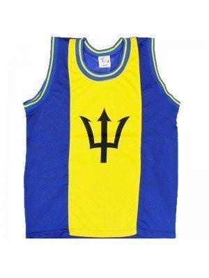 Barbados Flag Mesh Top Vest Large