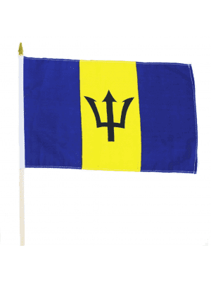 "Wholesale Barbados Hand Flag - 12"" x 18"""