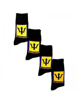 Rasta Design Socks - Barbados Flag