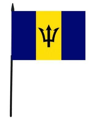 "Barbados Hand Flag - 12"" x 18"""