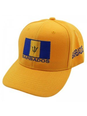 Barbados Flag Baseball Cap - Yellow