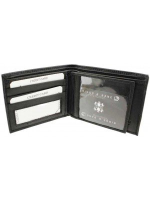 Wholesale Biggs & Bane Men's RFID Leather Wallet - Black