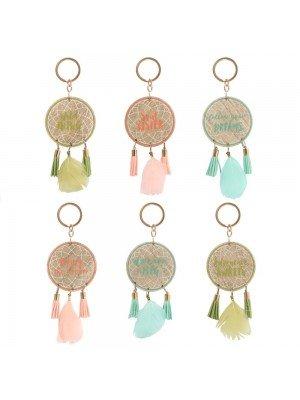 Wholesale Boho Dreamcatcher Hanging Keyring