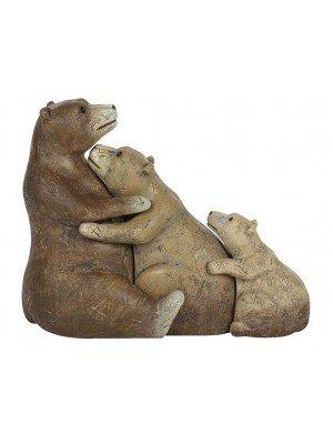 Wholesale Bear Family Ornament - 10cm