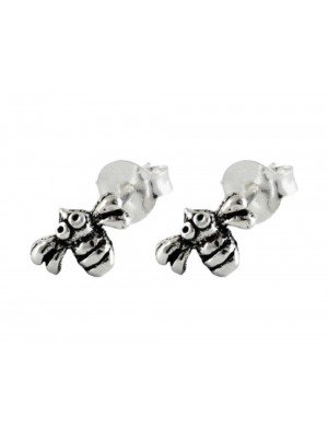 Wholesale Sterling Silver Bee Studs - 6mm
