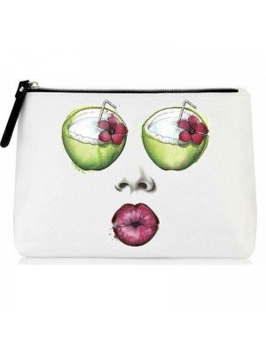 Being By Sanctuary Spa Makeup Bag -Coconut Design