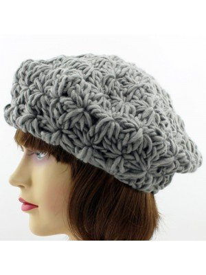 Ladies Chunky Knit Beret Hat - Assorted Colours