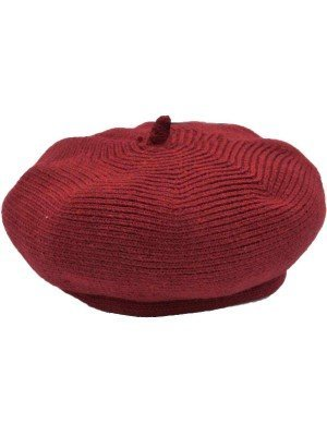 Wholesale Ladies Wool Beret Hat - Burgundy