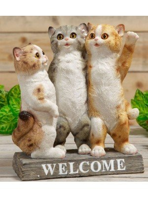 Wholesale Three Kittens Welcome Stand Ornament