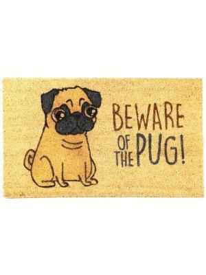 Beware of the Pug Coir Door Mat