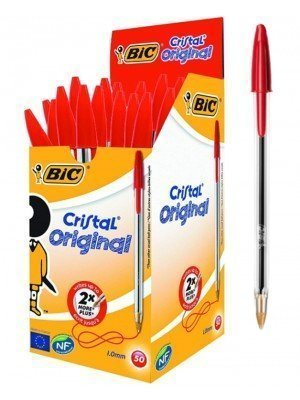 Wholesale BiC Cristal Original Ballpoint Pens - Red