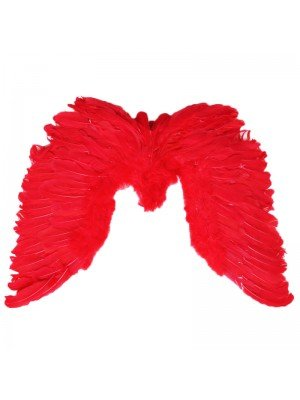 Large Feather Angel Wings - Red