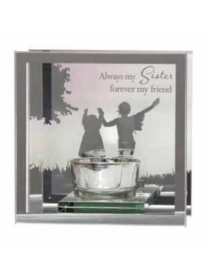 Wholesale Mirror Tealight Glass Candle Holder - Sister