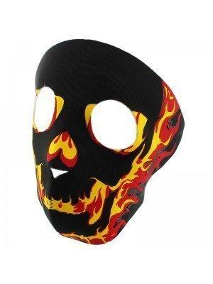 Biker Mask-Flaming Fire