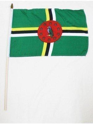 "Wholesale Dominica  Hand Flag 12"" x 18"""