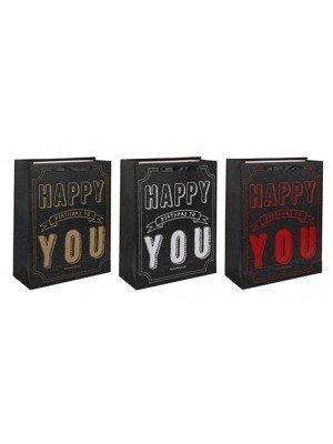Wholesale Happy Birthday To You Design Gift Bags - Medium(Assorted)