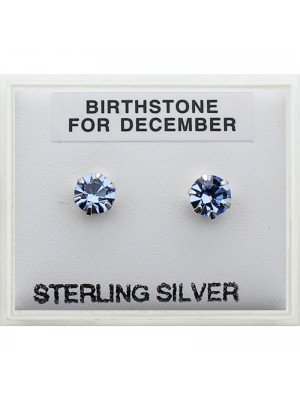 Birthstone Studs Earrings- December 5mm