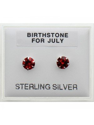 Birthstone Studs Earrings- July 5 mm