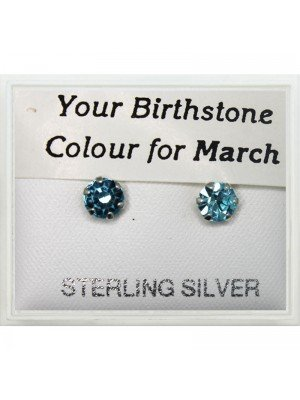 Birthstone Studs Earrings- March 5mm