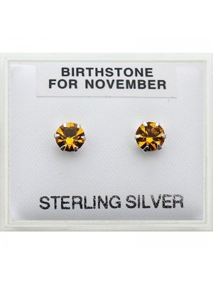 Birthstone Studs Earrings- November 5mm