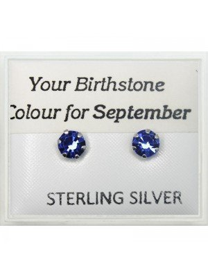 Birthstone Studs Earrings- September 5mm
