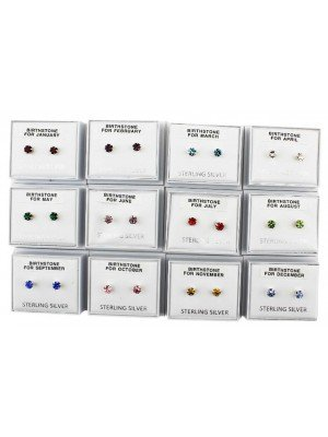 Wholesale Birthstone Studs Earrings