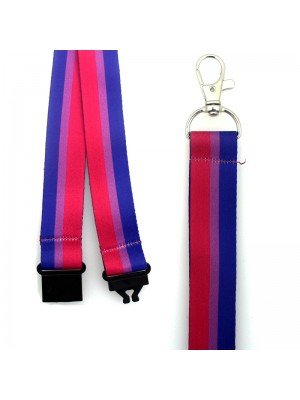 Wholesale Bisexual Colours Design Lanyard with Lobster Claw Closure