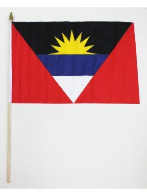 "Wholesale Antigua and Barbuda Hand Flag 12"" x 18"""