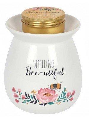 Wholesale Ceramic Smelling Bee-utilful Wax Melt Burner Gift Set-11 x 10cm