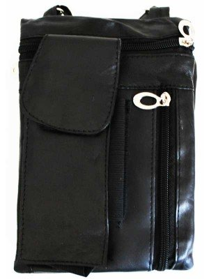 Wholesale Ladies Leather Purse With Leather String-Black