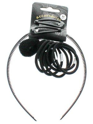 Wholesale Back to School Hair Accessory Set - Black