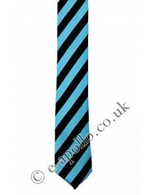 Black & Blue Stripe Tie