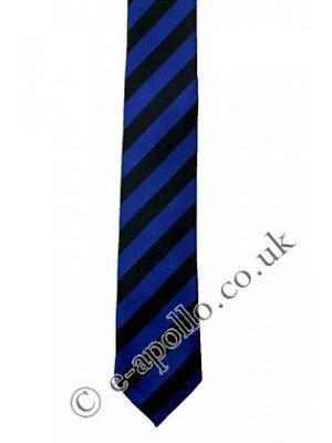 Black & Navy Blue Stripe Tie