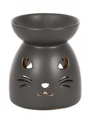 Wholesale Black Cat Face Cut Out Oil Burner