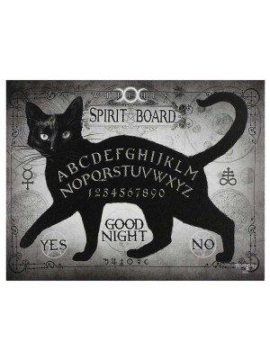 Wholesale Black Cat Spirit Board Canvas Plaque By Alchemy-25x19cm