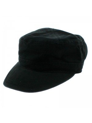 Black Chino Twill Cadet Cap