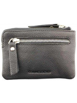 Wholesale Florentino Leather Coins & Card Holder With 6 Card Slots - Black