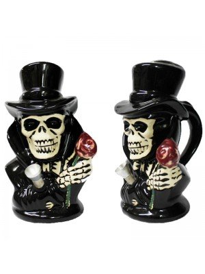 Black Joker Ceramic Pipe/ Bong 7 inch