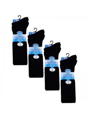 Wholesale Black Knee High School Socks - Fresh Feel (3 Pair Pack) - (UK - 12.5-3.5)