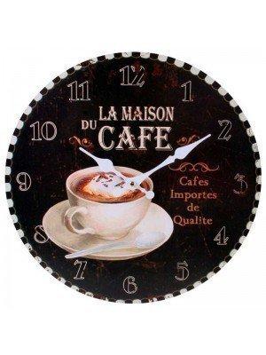 Wholesale Black La Maison Du Cafe Wall Clock - 34cm