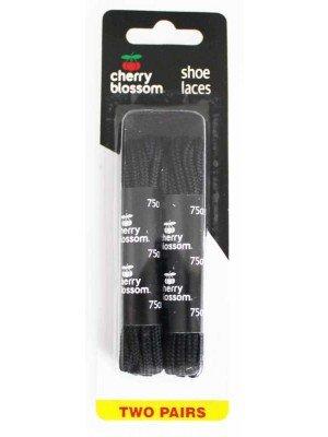 Wholesale 75cm Round Cherry blossom Shoe Laces-Black