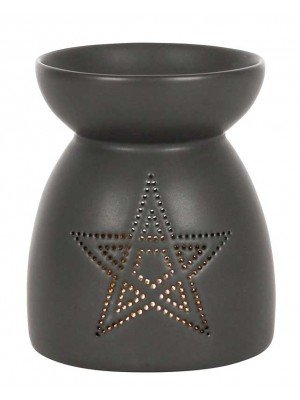 Wholesale Black Pentagram Cut Out Oil Burner