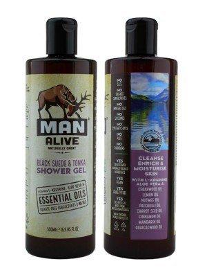 Wholesale Man Alive Shower Gel For Mens - Black Suede & Tonka