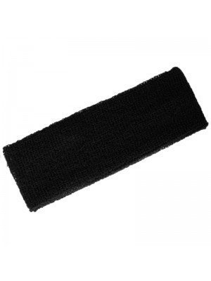 Head Sweatbands- Black (Wide 20cm x 7cm)