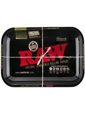 "RAW Large Rolling Metal Tray ""Black"" - 34 x 27.5cm"