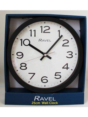 Wholesale Ravel 25cm Wall Clock - Black