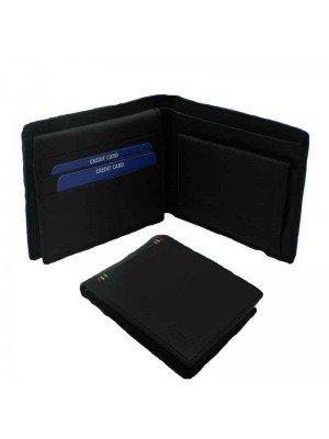 Black Mens Wallet Genuine Leather