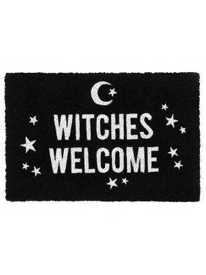 Black Witches Welcome Door Mat