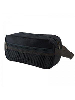 Black Pencil Case With 3 Zipper Compartments